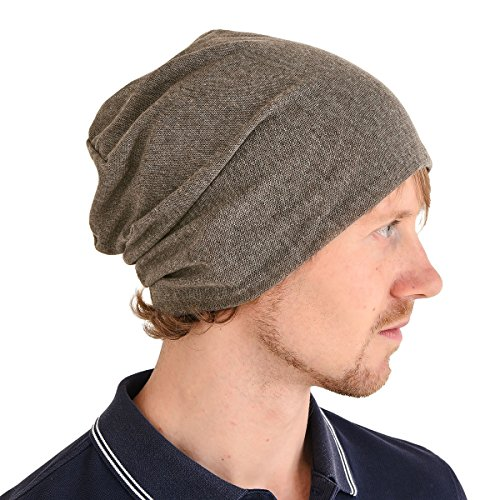 CHARM Casualbox | Summer Beanie Slouchy Hat Thin Baggy Cooling Light Fashion Unisex Brown