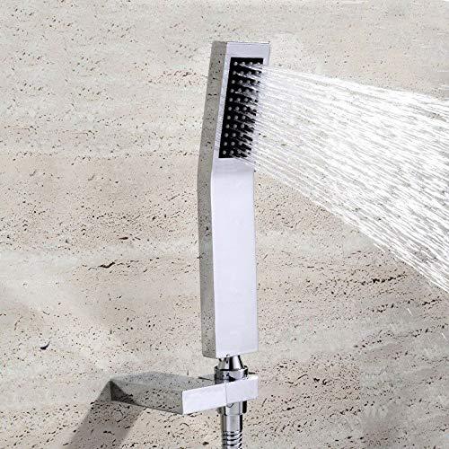 PengTrible Soporte de ducha con mango de latón macizo con ducha de mano, juego de manguera de grifo de baño