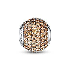 Compatible with Pandora, Chamilia, Trollbeads, Other charms Bracelet or Necklace METAL MATERIAL: 100% Genuine 925 Sterling Silver Guaranteed,GEM MATERIAL: AAAAA High Quality Cubic Zirconia Come with a beautiful gift box. Chic gift for good friends, g...