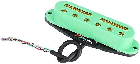 ピックアップ シングル 3PCS セットギター ピックアップ SSSピックアップ スタイルギター用 (ブラック)(グリーン)