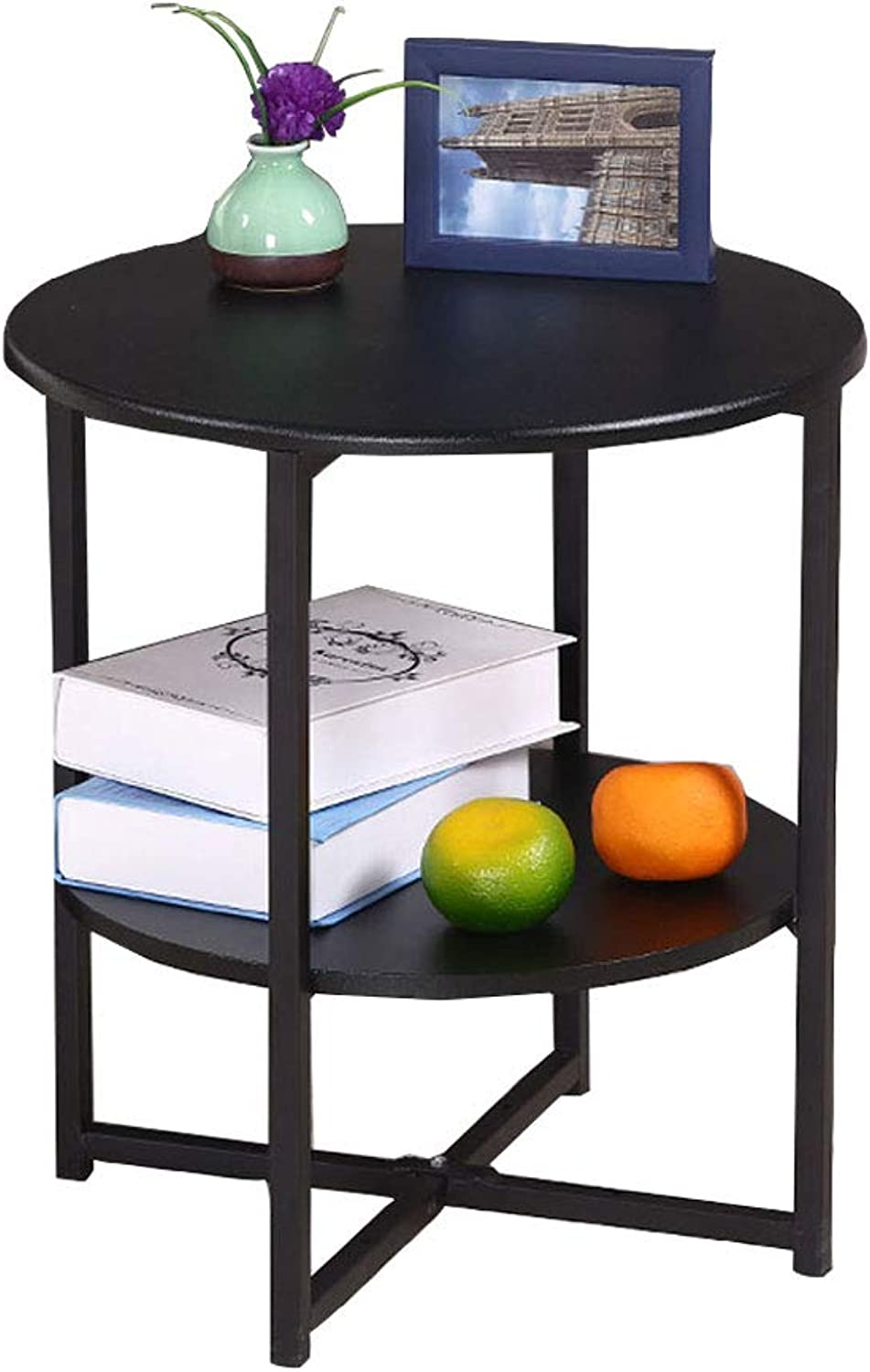 Small Coffee Table Simple Sofa Side Table Side Cabinet Small Round Table Phone Stand Small Side Table Corner Table (color   Black)