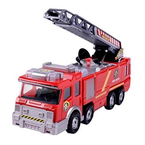 Kinderspielzeug Simulation Feuerlöschwagen Feuer Sprinkler Auto Spray Bewässerung Musik Beleuchtung Batteriebetrieben