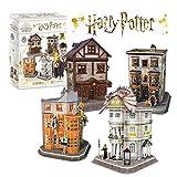 Puzzle 3D Harry Potter - Set del Callejón Diagón, Puzzles 3D, Maquetas para Construir Adultos,...