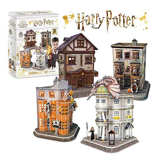 Puzzle 3D Harry Potter - Set del Callejón Diagón, Puzzles 3D, Maquetas para Construir Adultos, Regalo para Niños, Regalos Divertidos, Decoracion Habitacion, 273 Piezas