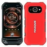 [Breeze] au TORQUE G03 KYV41 ケース トルク ジーゼロサン torque g03 トルク g03 カバー ハードケース スマホケース 液晶保護フィルム付Red