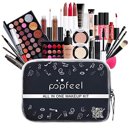 kelihood Juego De Maquillaje Todo EN UNO: Principiantes, Incluido El Juego De Pinceles De Maquillaje, Juego De Maquillaje, Lápiz Labial, Sombra De Ojos Multicolor, Juego Completo De Maquillaje