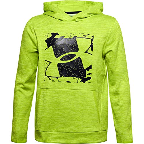 Under Armour Boys' Armour Fleece Sleeveless Hoodie , Green Citrine...