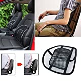 CarFrill Car Seat Chair Cushion Lumbar Back Support for Car Seat Chair Office Massage Mesh Ventilate Pain Relief Cushion Pad