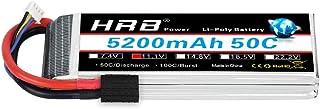 HRB 3S Lipo Battery 11.1V 5200mAh 50C with TR Plug Compatible for Slash VXL, Slash 4x4 VXL, 1/10 Rally, XO-1 Supercar, E-M...
