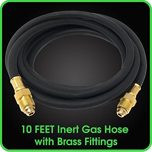MANATEE Argon Regulator Gas Hose 10 Feet Inert Double Brass Gas Fitting for Welding Application MIG/TIG -5/