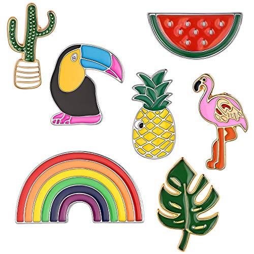 FaithHeart Serie de Verano Pin Set 7 Piezas Broches Aleación para Mochilas Accesorios de Disfraz Decoraciones Modernos