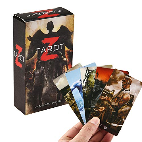 78 Piezas de Cartas de Tarot, Temas Oscuros Tarot Z Kit Cartas de Tarot, inglés Completo, Divertido Juego de Mesa Zombie Tarot Deck Juego de Cartas Adivinación