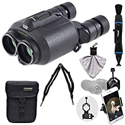 Fujifilm Fujinon Techno-Stabi TS1228 12x28 Image Stabilized Binoculars & Case with Harness Strap + Smartphone Adapter + Cleaning Kit from FUJIFILM
