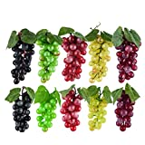 Toopify 10 Bunches Artificial Grapes, Simulation Decorative Lifelike Rubber Fake Grapes Clusters for Wedding Wine Kitchen Centerpiece Décor (5 Colors,2 Size)
