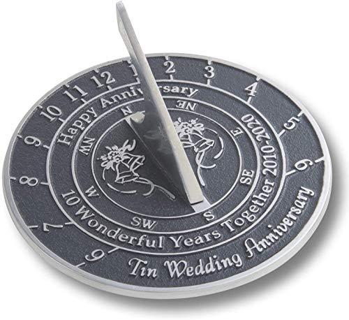 Antique Nauticals Cadran solaire pour 10e anniversaire de mariage