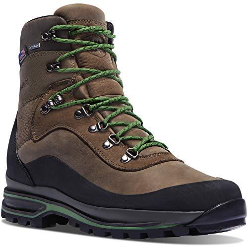 """Danner Men's 67810 Crag Rat USA 7"""" Gore-Tex Hiking Boot, Brown/Green - 9.5 D"""
