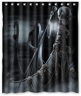 Shower Curtain Home Decoration Bathroom Grim Reaper Skull Death Waterproof Fabric 60(w) x72(h) Inch
