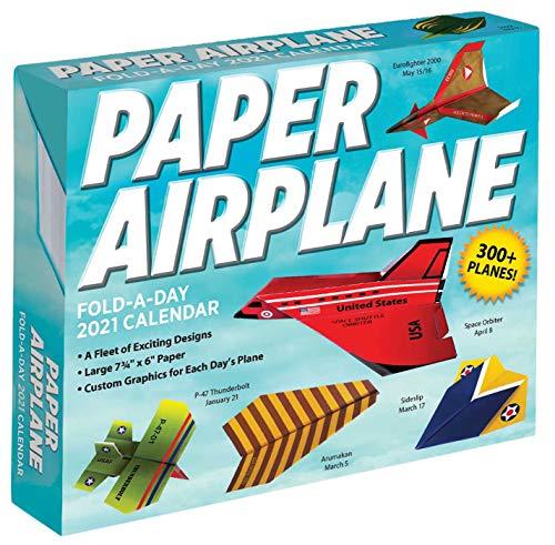 Paper Airplane Fold-a-Day – Papierflieger-Faltvorlage für jeden Tag 2021: Original Andrews McMeel-Tagesabreißkalender [Kalendar]
