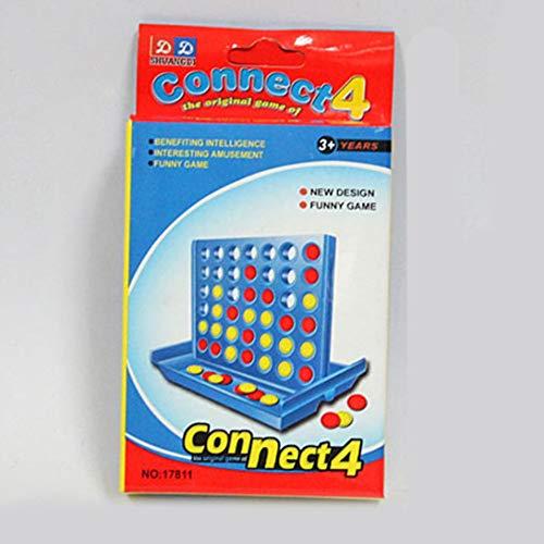 Swiftswan Dreidimensionales Vier-Spiele-Schach Früherziehung Eltern-Kind-Interaktion 1 Set Connect 4 Online Classic-Brettspiel