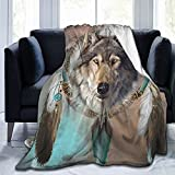 Air Conditioning Wolf Blanket, Lightweight, Ultra-Soft Micro Fleece Blanket, Adult Decorative Blanket, Microfiber Suitable for Adults and Teenagers 50'x40'