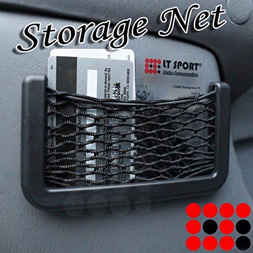 """7.5"""" W Elastic Nylon Storage Net Pocket Organizer Card Mesh Tape-On Holder"""