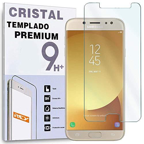 REY Protector de Pantalla para Samsung Galaxy J3 2017, Cristal Vidrio Templado Premium