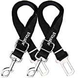 Vastar 2 Packs Adjustable Pet Dog Cat Car Seat Belt