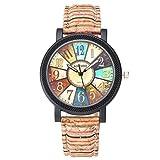 JSDDE Uhren,Damen Retro Stil Farbig Streifen...