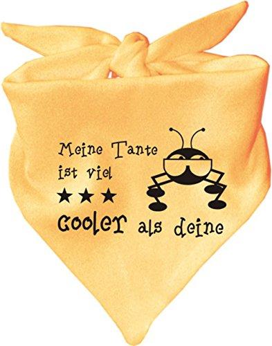 KLEINER FRATZ Baby Halstuch Meine Tante ist viel cooler als deine/AUNTI/Fb. Gelb