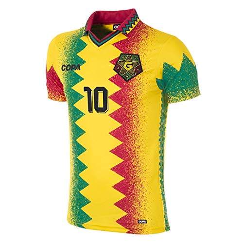 Copa Ghana Retro Shirt Trikot gelb gelb, M