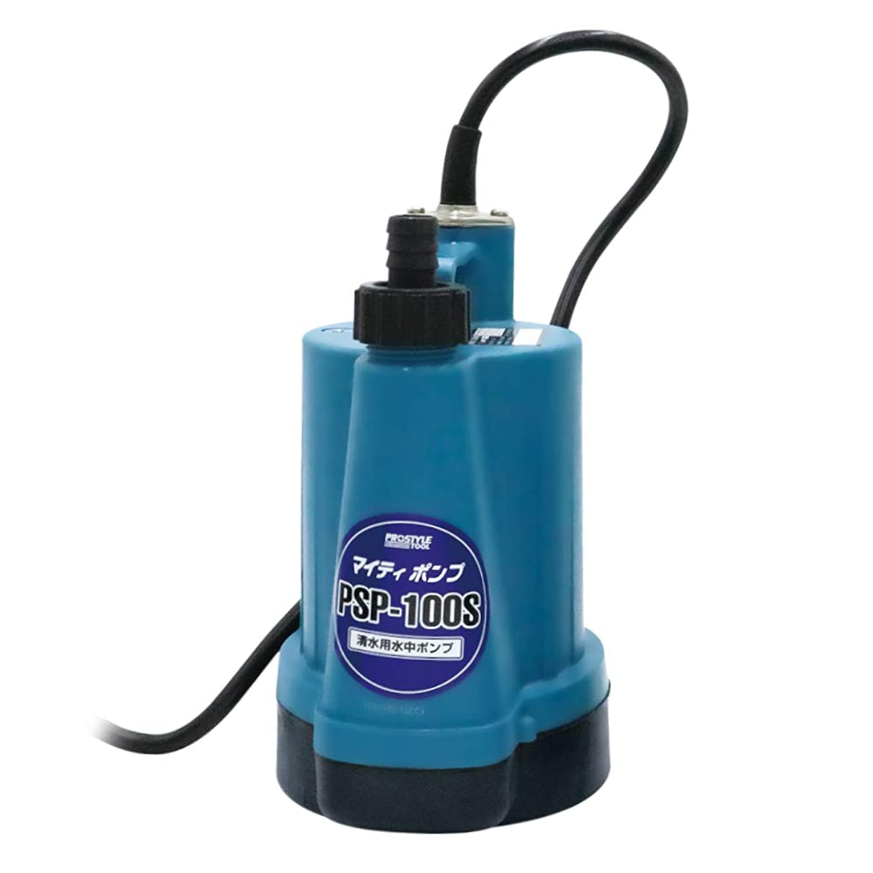 取り除く最近乱雑なフローバル プロスタイルツール 清水用水中ポンプ マイティポンプ PSP-100S 50/60Hz共用 奥行13.8×高さ26.3×幅15.9cm