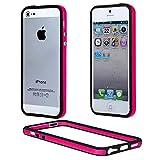 ebestStar - Bumper Compatible con iPhone SE 5S 5 Funda Protectora Bordes Lados Reforzados, Carcasa Anti choques, Rosa/Negro [Aparato: 123.8 x 58.6 x 7.6mm, 4.0'']