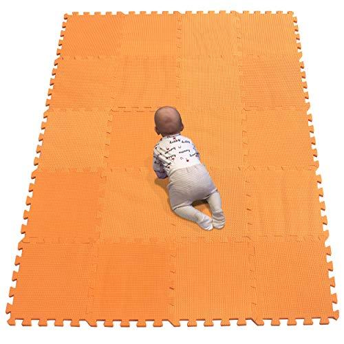 YIMINYUER Puzzlematte Kinderspielteppich Spielmatte Spielteppich Schaumstoffmatte Kinderteppich Schutzmatten Bodenschutzmatten Unterlegmatten Fitnessmatt Orange R02G301020