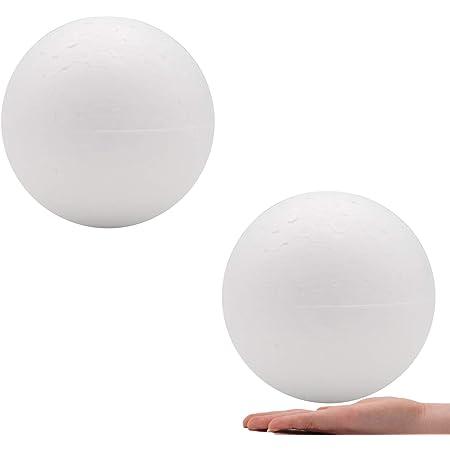 NUOBESTY 25Pcs 7cm Craft Foam Ball Christmas Art Craft Modelling Polystyrene Ball Smooth Styrofoam Ball for School Art Project