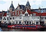 Rompecabezas 1000 piezas de rompecabezas de madera Pintura por números para niños Estación de tren de Amsterdam Regalo de Navidad único Personalidad Decoración de la pared (sin marco)