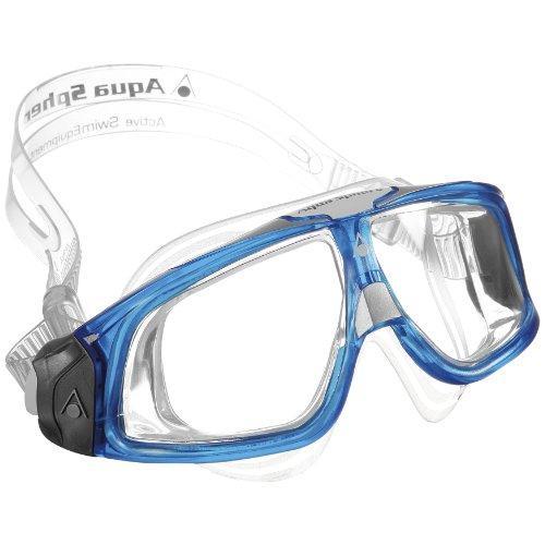 Aqua Sphere Erwachsene Taucherbrille / Tauchmaske / Schwimmbrille Seal 2.0 (One Size) (Durchsichtig/Blau)