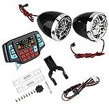 Moto Reproductor de MP3 12V 2 * 10W Moto Audio Estéreo BT Reproductor de MP3 Motor a Prueba de Agua Portador de Tarjeta USB TF Sistema de Altavoces estéreo Universal