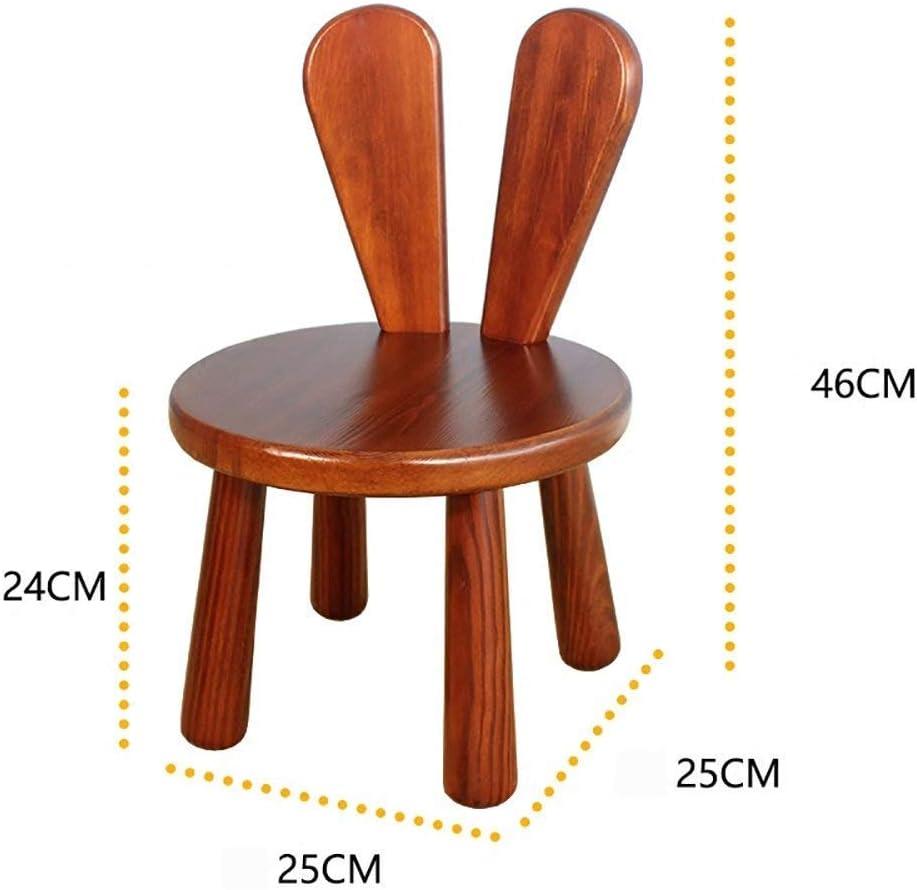 HOMRanger Tabouret créatif en Bois Massif/Tabouret de Salon Simple/Chaise pour Enfant du Dossier du ménage 25 46 cm (Couleur: B) 1