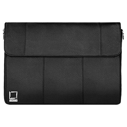 Lencca Axis 15 Hybrid Compact Laptop Shoulder Bag for Microsoft Surface Book 3 15, Razer Blade 14, Razer Blade Stealth Ultrabook 13.3, Wacom Cintiq, MobileStudio, Mobile Studio Pro 13.3
