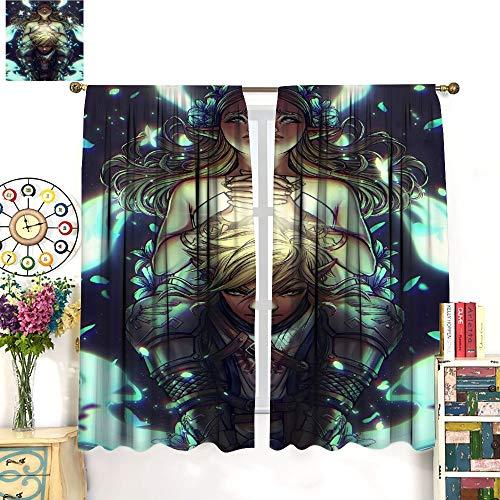 Petpany Hyrule Warrior Zelda Age of Disaster - Cortina redonda de microfibra de 183 x 160 cm, decoración de lujo para la vida, el comedor, el dormitorio