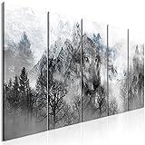 murando - Cuadro en Lienzo Lobo 200x80 cm Impresión de 5 Piezas Material Tejido no Tejido...