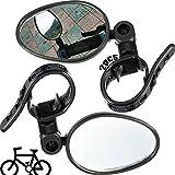 Specchio Da Manubrio Ruotabile 2 Pezzi La Mobilità Della Bicicletta Specchio Per Bicicletta Regolabile Per Specchietti Per Manubrio Bicicletta 22 Mm Robusti e Durevoli Per Bici Strada Mountain Bike
