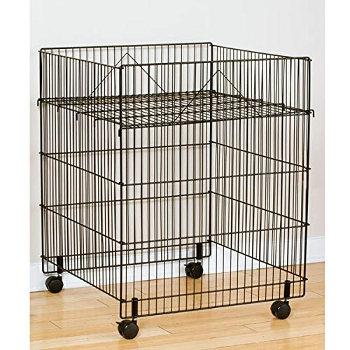 Steel Large Square Bin 2021 spring and summer new in Black with 30 26 D H 67% OFF of fixed price Casters x W