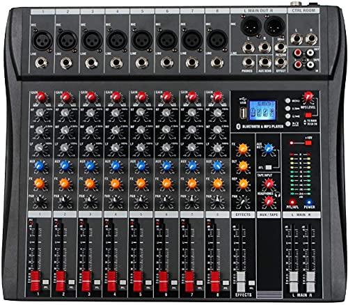 Depusheng DA8 Mezclador de audio profesional Consola de placa de...