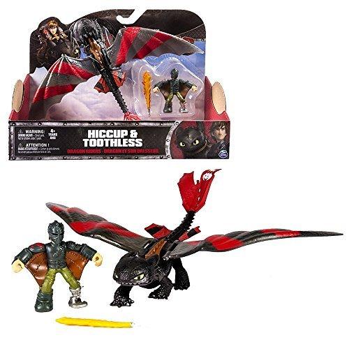 Dragons - Action Spiel Set - Drachen Ohnezahn mit beweglichen Flügeln & Hicks