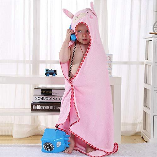 HXLFYM Toallas con Capucha para Niños, Rosa Monstruo En Forma De Bebé con Capucha De Baño con Capucha De Microfibra Super-absorbente De Fibra Ultra Delgada Bebé Baño Bebé para Recién Nacido (90 X 90 C