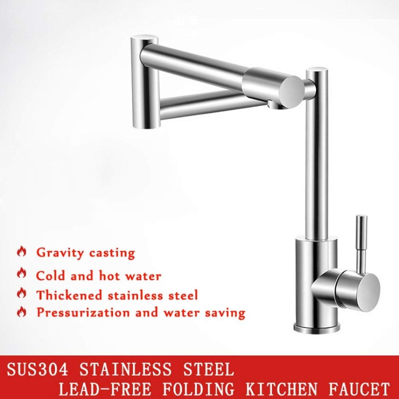 Lddpl 304 Edelstahl Bleifaltender Küchenarmatur-Mischer 360 Grad-Schwenker-Einziger Handgriff-Nickel-Spülbecken-Becken Wasserhhne