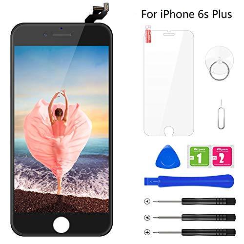 BuTure Kompatibel mit iPhone 6S Plus Display Schwarz, Ersatz Set LCD 3D Touchscreen Digitizer mit Werkzeuge und Displayschutzfolie Für iPhone 6S Plus