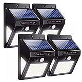 Luz Solar Exterior 40 LED 3 Modos con Sensor de Movimiento, Luces LED 270º lluminación Focos Solares Exterior Impermeable Aplique Lampara Solar para Exterior Jardin