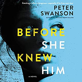 Before She Knew Him     A Novel              Written by:                                                                                                                                 Peter Swanson                               Narrated by:                                                                                                                                 Sophie Amoss,                                                                                        Graham Halstead                      Length: 10 hrs and 15 mins     43 ratings     Overall 4.4